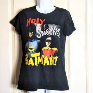 😎 TM & DC comics Batman & Robin 2xl Jrs t-shirt
